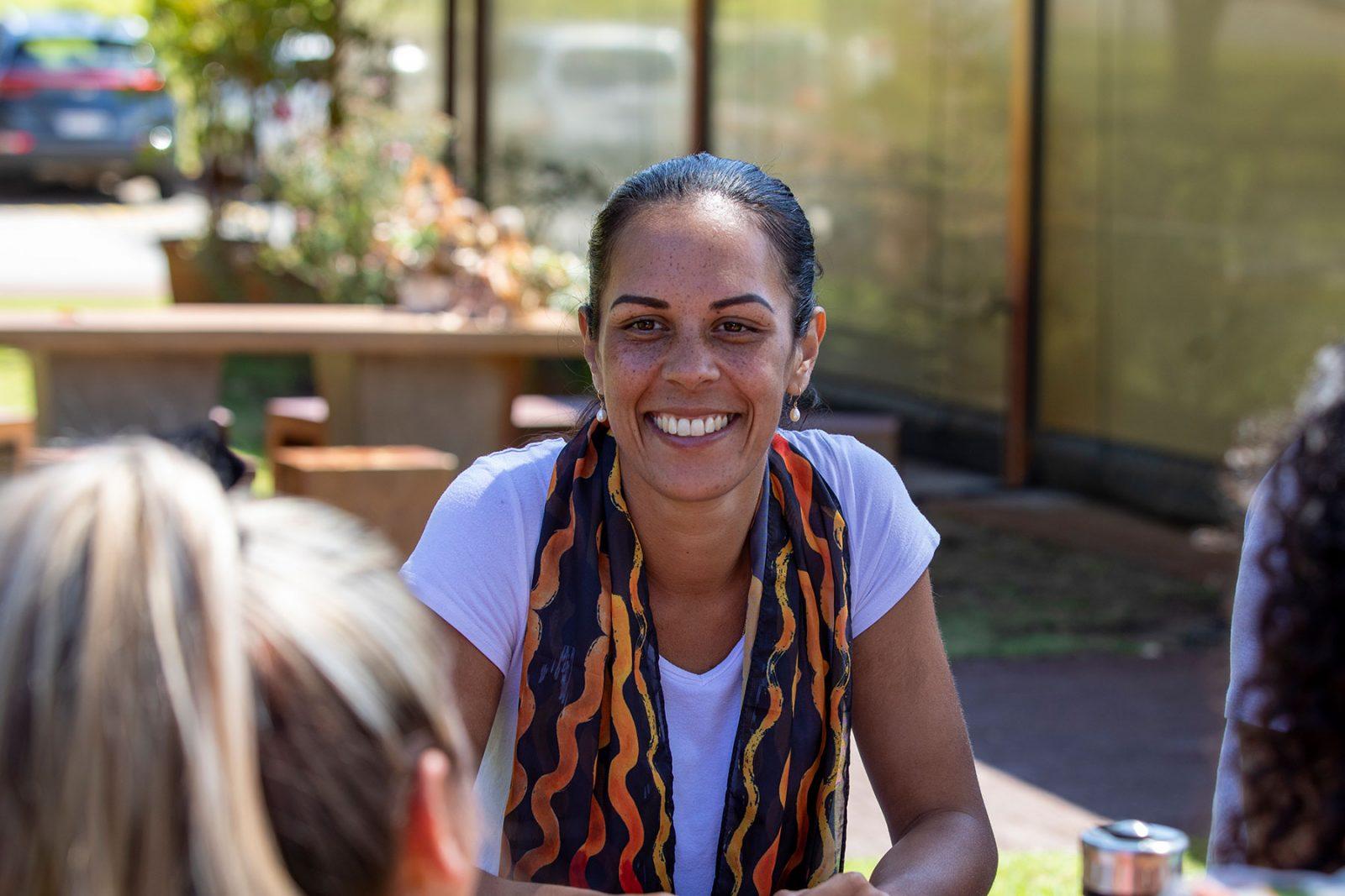 Woman teacher smiling